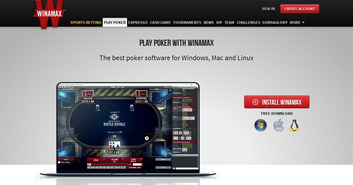 Winamax pour Mac